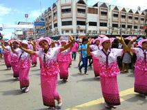 Chak Pra Festival Suratthani Thailand stock afbeelding
