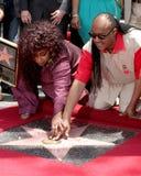 Chaka Kahn,Stevie Wonder. LOS ANGELES - MAY 19:  Chaka Kahn, Stevie Wonder at the Chaka Kahn Hollywood Walk of Fame Star Ceremony at Hollywood Blvd on May 19 Stock Images