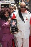Chaka Khan Stevie Wonder royaltyfri foto