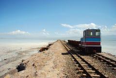 Chaka lake with a train Stock Photos