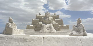 Chaka Salt Lake Carving Lizenzfreies Stockfoto