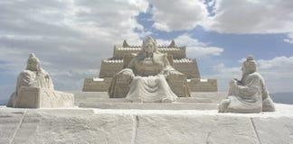 Chaka Salt Lake Carving Royalty Free Stock Photo