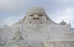 Chaka Salt Lake Carving Royalty Free Stock Images