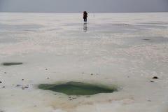 Chaka  salt  lake Stock Photo