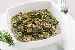 Chakapuli är en georgisk maträtt Royaltyfria Foton