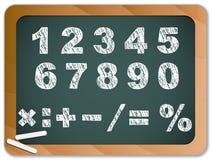 chakboard αριθμοί κιμωλίας απεικόνιση αποθεμάτων