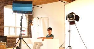 Chaker Khazaal auf Set Stockfoto