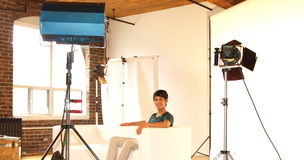Chaker Khazaal On Set stock photo