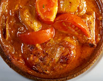Chakhokhbili-chicke n with tomatoes and onions Stock Image