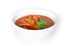 Chakhokhbili - cozido de galinha com tomates fotografia de stock royalty free