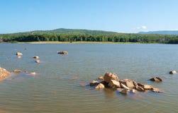 Chakkapong reservoir. Khao ito mountain, Prachin Buri, Thailand Royalty Free Stock Image