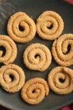 Chakli是一顿普遍的印地安欢乐快餐 图库摄影
