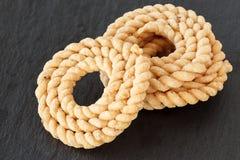 Chakli lub Murukku jarosza popularna spirala kształtująca chips smażąca przekąska zdjęcie stock