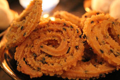 Chakli. Savory item prepared during Diwali, an Indian festival stock images
