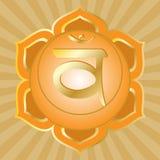chakra系列swadhisthana 库存图片