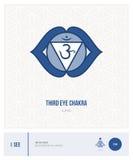 Chakra Ajna del ojo de Thid Fotografía de archivo libre de regalías