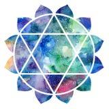 Chakra Anahata znak Obraz Stock