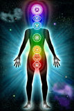 Chakra Body Universe Royalty Free Stock Photos
