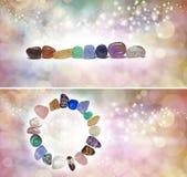 Chakra Crystal Headers x 2 Royalty-vrije Stock Afbeelding