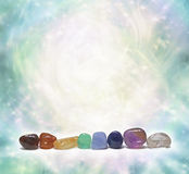 Chakra Crystals emitting beautiful energy Stock Images