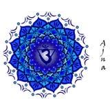 Chakra de Ajna Imágenes de archivo libres de regalías