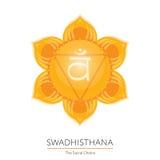 Chakra de Swadhisthana - símbolo ayurvedic Fotografia de Stock Royalty Free