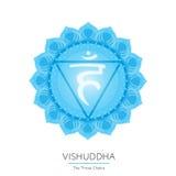 Chakra de Vishuddha del cuerpo humano Foto de archivo libre de regalías