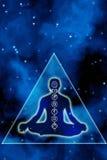 Chakra en meditatie royalty-vrije illustratie
