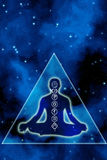 Chakra et méditation illustration libre de droits