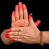 Chakra hasta of indian dance Bharata Natyam Royalty Free Stock Photos