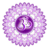 chakra isolerad purpur sahasrara Royaltyfri Bild