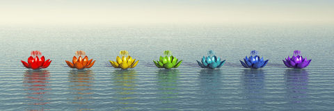Chakra Lotus royaltyfri illustrationer