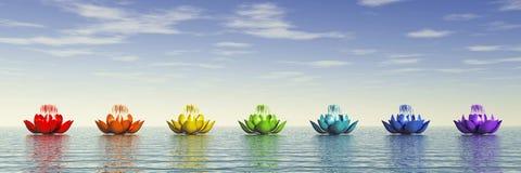 Chakra Lotus Fotografering för Bildbyråer