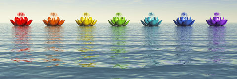 Chakra Lotus Immagini Stock Libere da Diritti