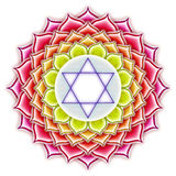 Chakra Lotus. Illustration of a chakra lotus Stock Image