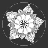 Chakra mandala icon symbol, flower floral, vector hand drawn. Illustration design concept sign Stock Photos