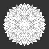 Chakra mandala icon symbol, flower floral, vector hand drawn. Illustration design concept sign drawing vector illustration