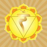 chakra manipura系列 免版税库存照片