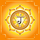 Chakra Manipura. Manipura. Decorative design element esoteric Buddhistic symbol of the chakras Stock Photos
