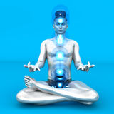 Chakra Meditation Stock Photo