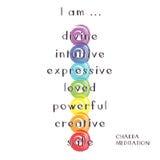Chakra Meditation Lizenzfreies Stockfoto