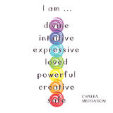 Chakra Meditation. Illustration of Seven Chakra Meditation Royalty Free Stock Photo
