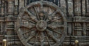 Chakra na świątynnej ścianie która zrobił kamieniowi zdjęcie royalty free