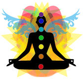 Chakra points Stock Photography