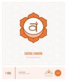 Chakra sacral Svadhisthana Fotografia de Stock