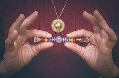 Chakra Scepter van 7 chakras stock foto