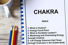 Chakra or seven energy center. In the astral body of man stock images
