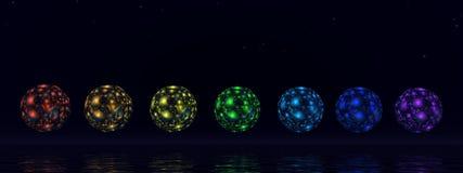 Chakra spheres - 3D render Stock Photos