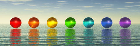 Chakra Spheres Stock Photos