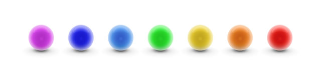 Chakra Spheres. Illustration of colorful chakra spheres Stock Images